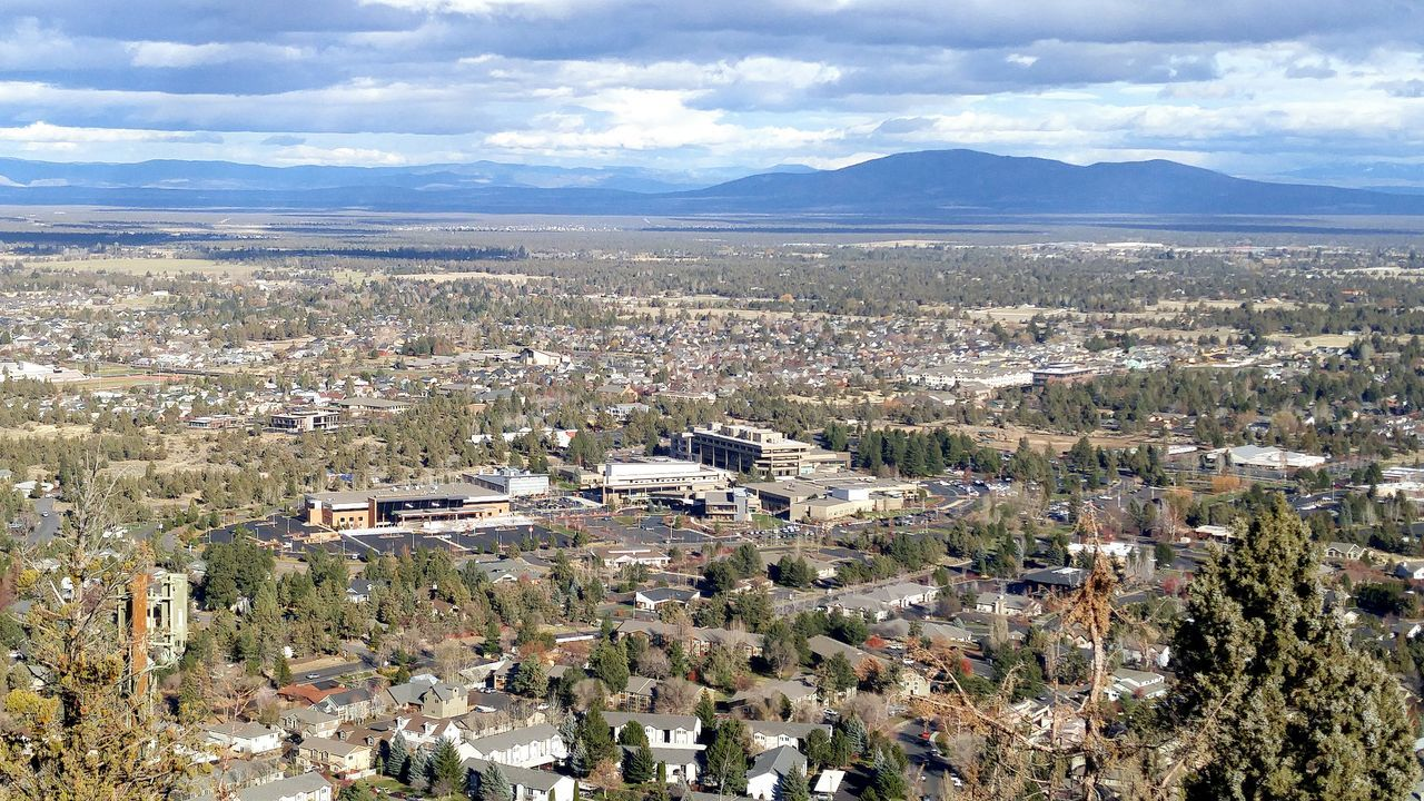 Aerial View Cloud - Sky Agriculture Outdoors Mountain Range No People Beauty In Nature Day Bend Oregon Pilot Butte St Charles Medical Center My Year My View