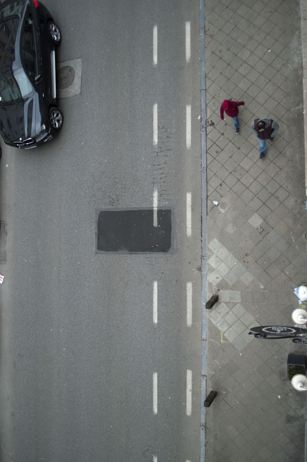 Bruxelles Bruxelles Central Street From Above Streetlife From Above
