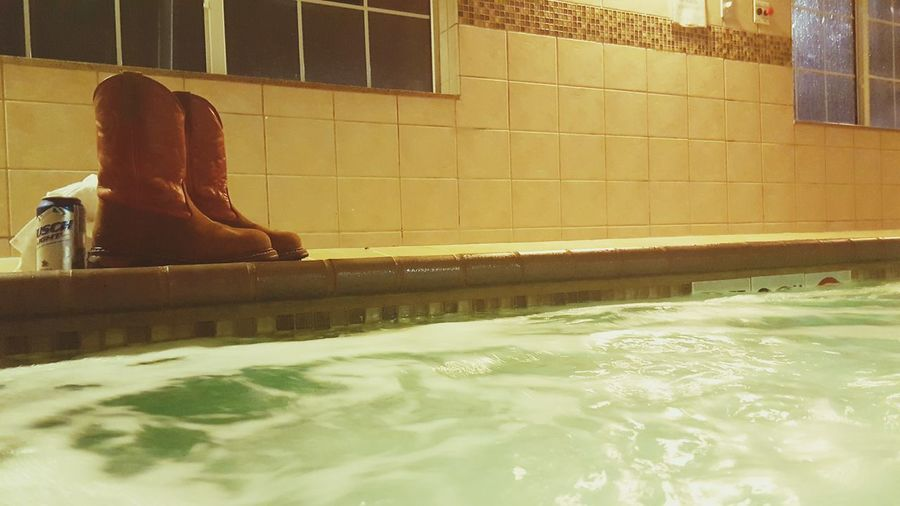 Relaxing Refreshing After Work Busch Light Beer Alcohol Hotel Life Road Life Hot Tub Hot Tubbin Hot Tub Time Red Water Red Boots Rocky Steel Toe Boots Down Time  This Is LIFE My Life Saint Louis After Hours Aqua Therapy Tuesday EyeEm Best Shots Eye4photography