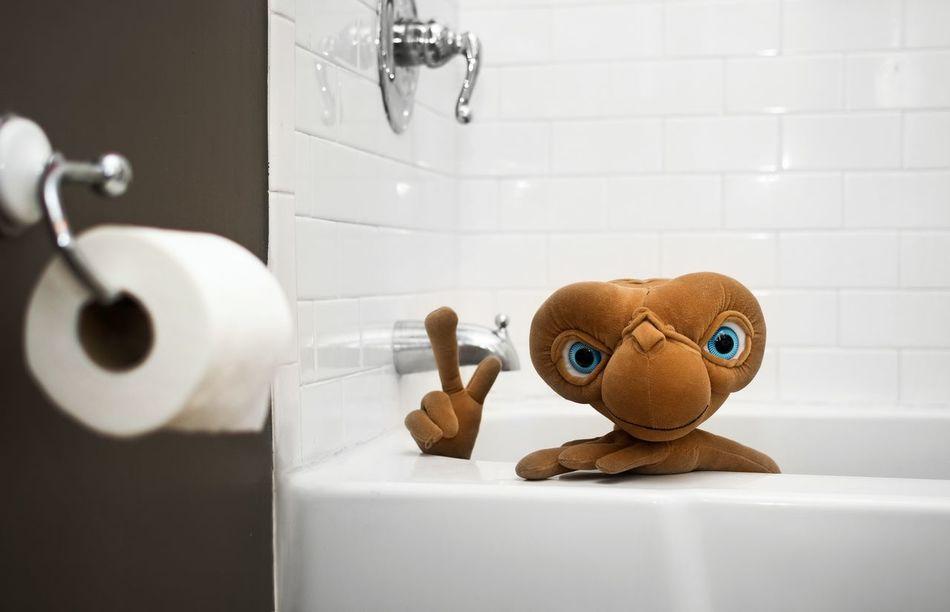 Bathtub Bathtime E.T. E.T. Phone Home Doll EyeEm Selects Baby Domestic Bathroom Domestic Life Indoors  Bathroom Cute Domestic Room Close-up