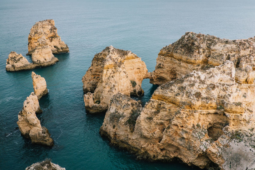 Lagos Algarve Atlantic Atlantic Ocean Lagos Ponta Da Piedade Portugal Praia De Dona Ana Travel Beach Beauty In Nature Day High Angle View Nature No People Ocean Outdoors Rock - Object Rock Formation Scenics Sea Seaside Sky Tarvel Destination Tranquility Water