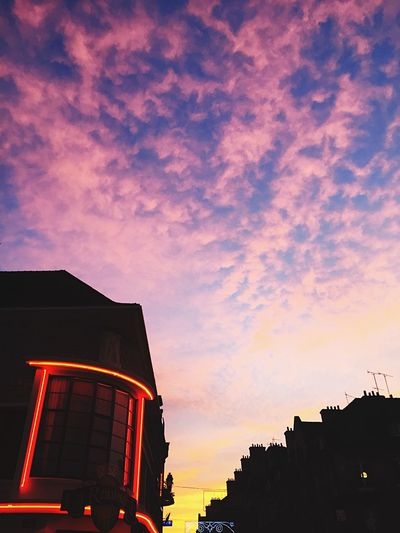 Twilight sky in the city Sunset Architecture Built Structure Building Exterior Sky No People Low Angle View Outdoors Cloud - Sky City
