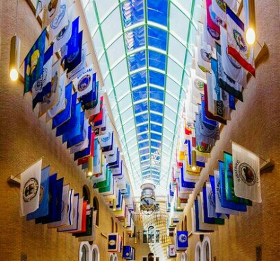 Massachusetts State House The Great Hall Eye4photography  Flags Thirteen Colonies