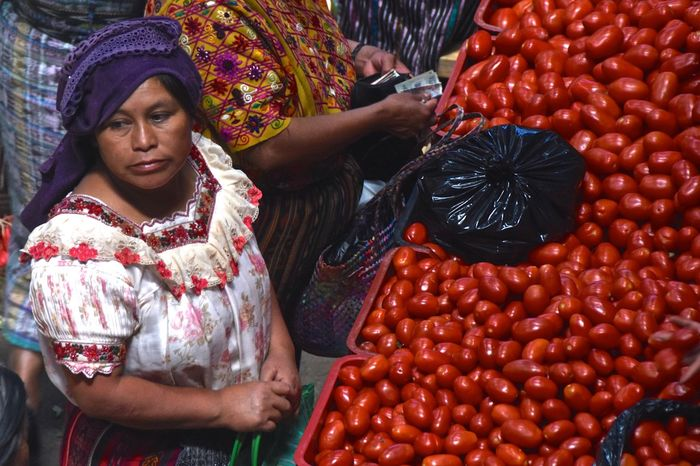 EyeEm Best Shots Eyeem Market Market People Of EyeEm People Photography Portrait Of A Woman Red Streetphotography Thoughtful Tomato Traditional Clothing Traditional Culture Vegetables Woman Women Of EyeEm