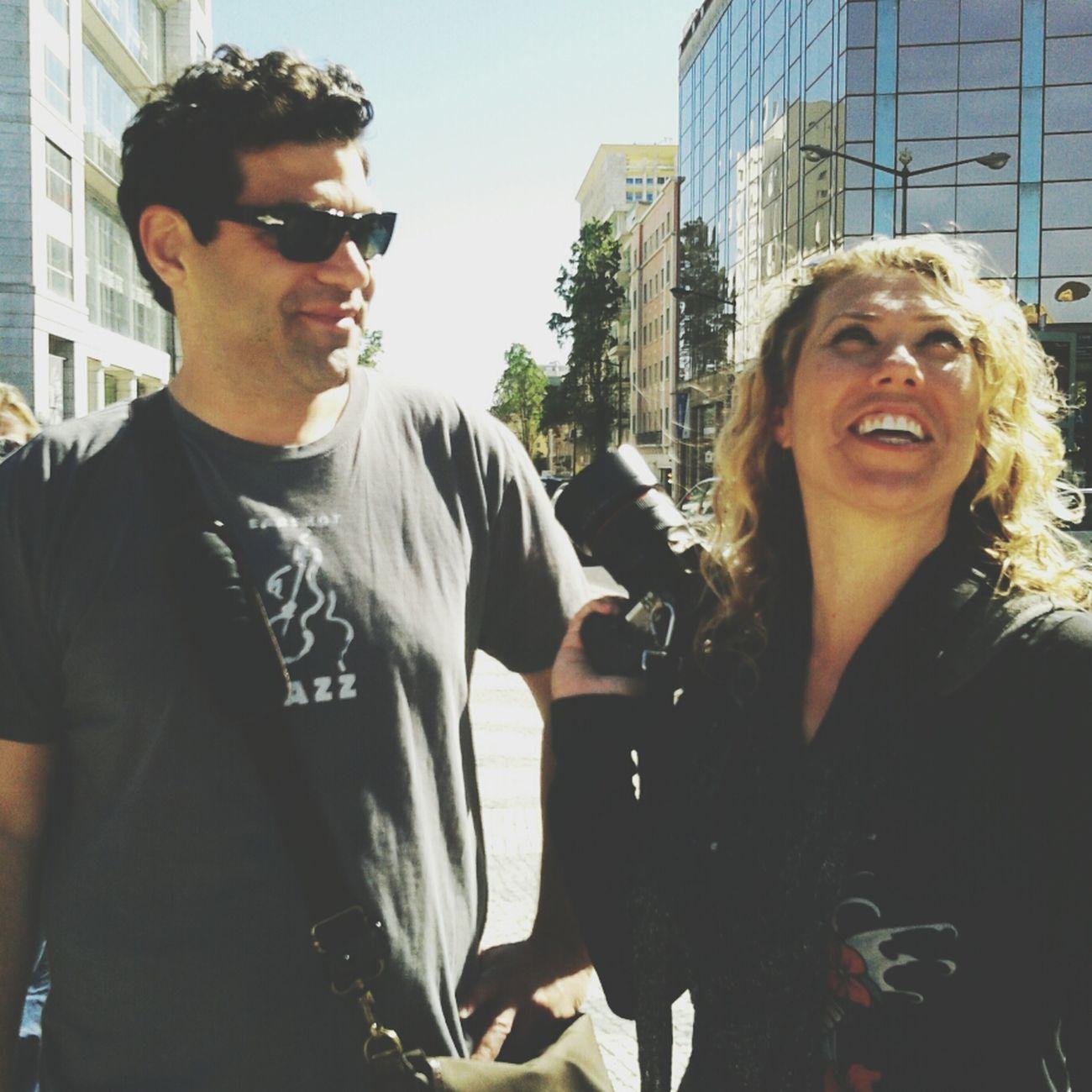 Neill Barham and Susan Roderick at EyeEm Lisbon Masterclass 2013 Streetphotography Portugal Steph Filter EyeEm Lisbon Masterclass 2013