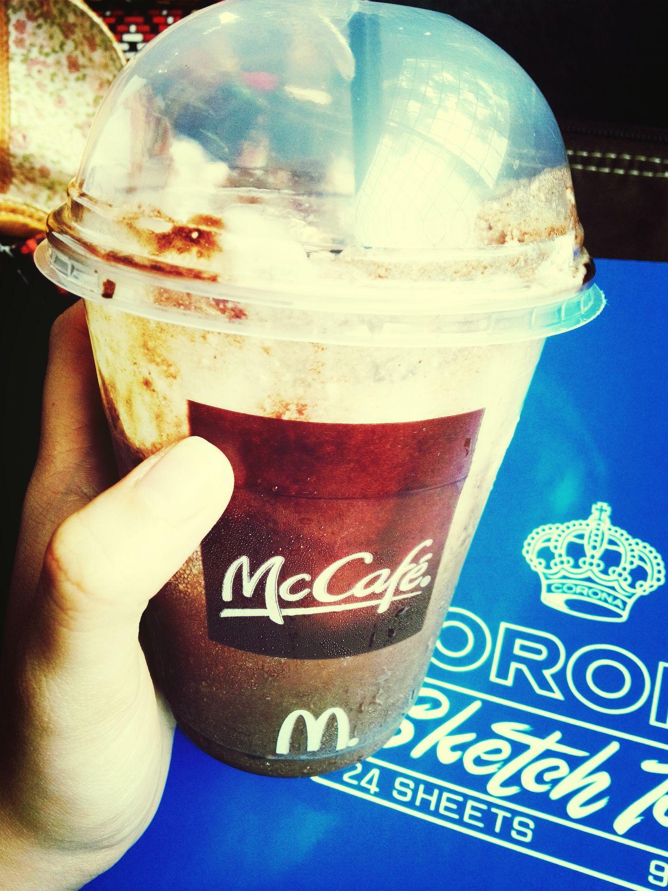 Drinking while sketching Hi! Mcafe Frappucino