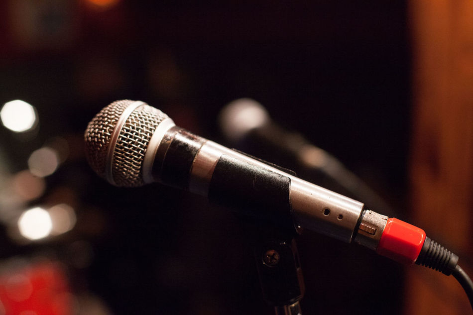 Two microphone Close-up Communication Concert Day Focus On Foreground Gig Indoors  Microphone Microphone Stand Music Music Musica Musician No People On Stage Radio Station Recording Studio Sound Recording Equipment Stage Stage Photography Stagephotography Technology