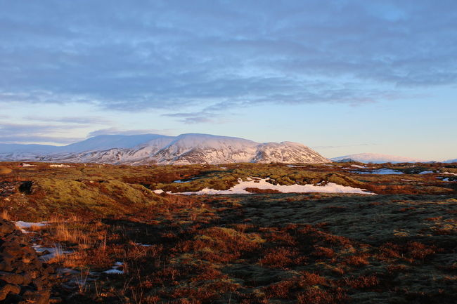 Iceland Mountain Nature Physical Geography Road Trip Rock Formation Sunrise Thingvellir National Park Winter