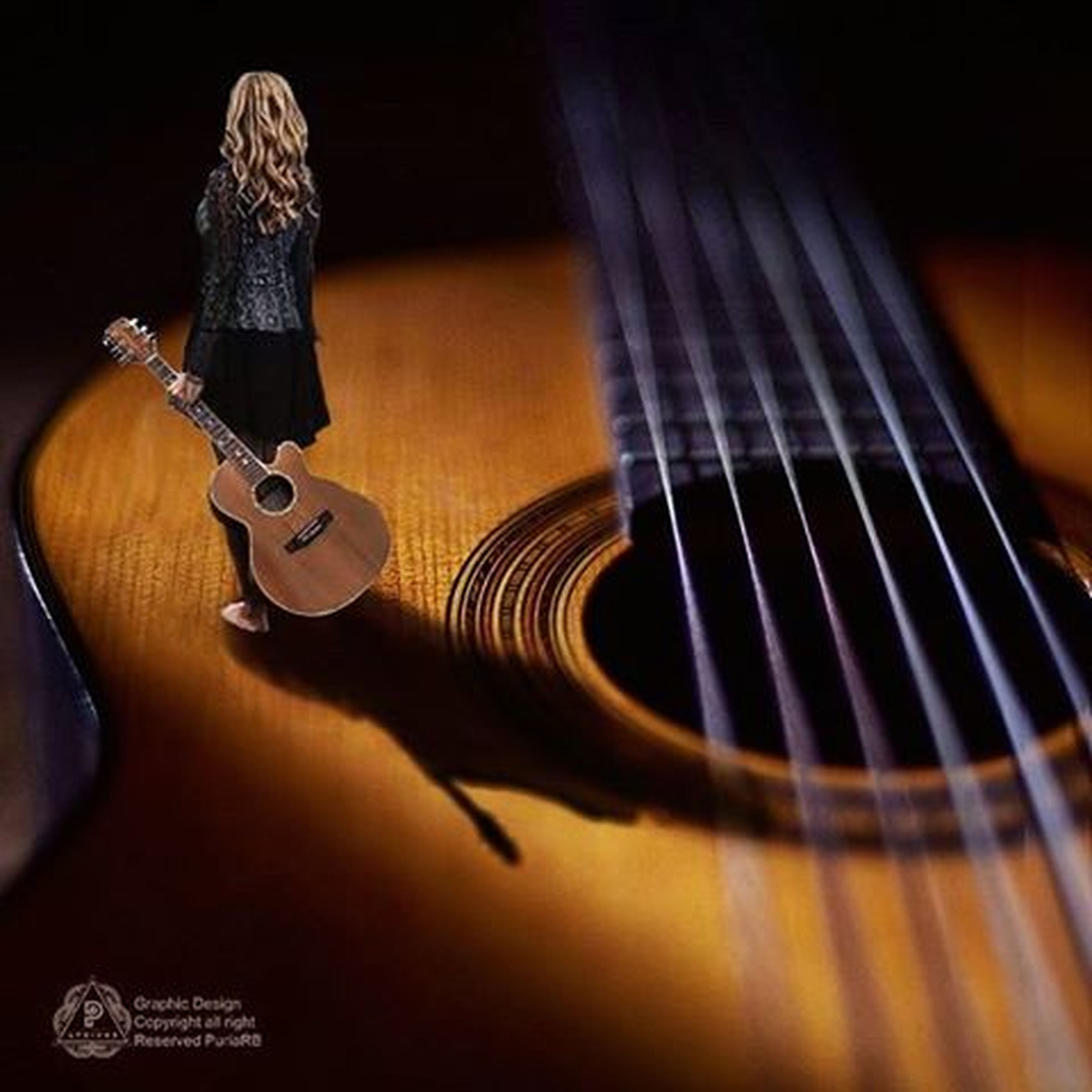 indoors, music, musical instrument, arts culture and entertainment, guitar, musical equipment, close-up, musical instrument string, selective focus, high angle view, shoe, technology, skill, hobbies, part of, string instrument, acoustic guitar, still life