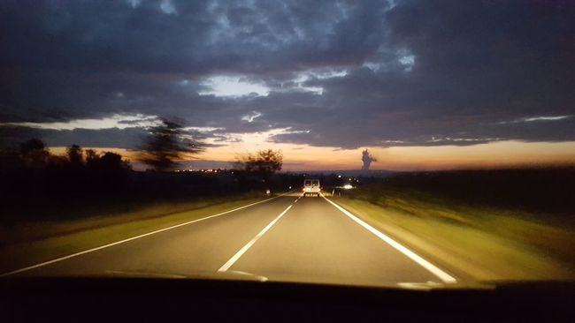 Road Car Sky The Way Forward Sunset Road Marking Landscape_photography Landscape Raw Raw Photography Panoramic Photography Panorama Sunny Day Clouds And Sky Sunrise Street Photography Today :)