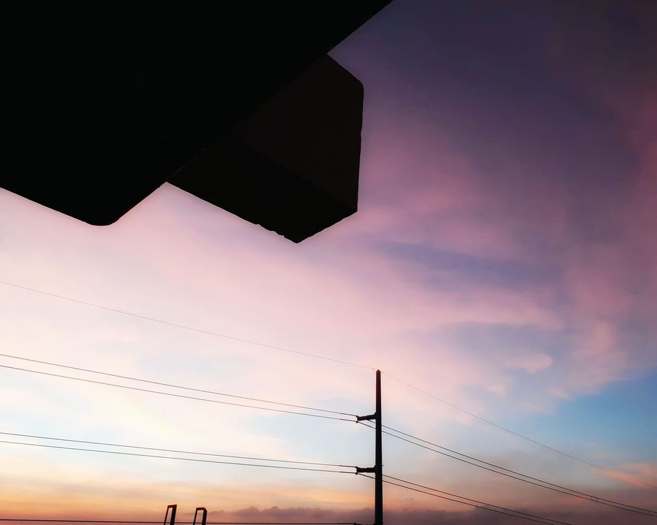 Cotton Candy kind of SunsetMillennial Pink Sky Sunset Cloud - Sky Low Angle View Dramatic Sky Nature Outdoors Technology Beauty In Nature Naturelovers Nature Photography Nature Silhouette Beauty In Nature Awesome Nature PhonePhotography