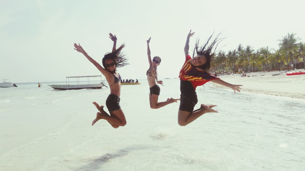 Beach Sand Lifestyles Fun Sky Flying Nature Jumpstagram Jump Shot Friendship Friendship Goals