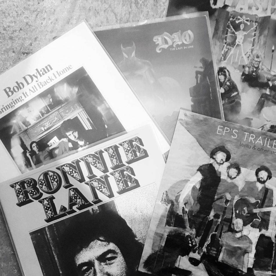 Monochrome Blackandwhite Recordstoreday Music Vinyl Bob Dylan Ronnie Lane EP's Trailer Park W.a.s.p Dio