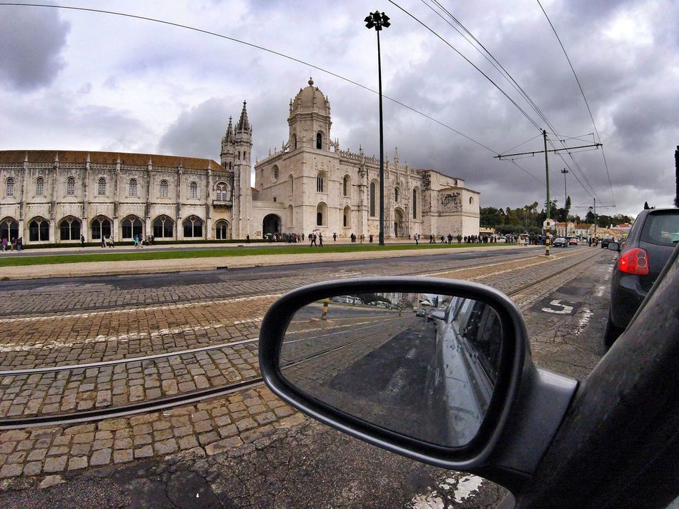 Transportation Car Built Structure Sky Architecture Building Exterior Mode Of Transport Road Outdoors No People Day Vehicle Mirror Gopro Gopro Session Monestary Window View On The Road Clouds And Sky Cloudy Cloudy Day EyeEmNewHere