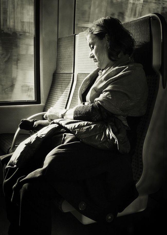 Subway People Portrait Portrait Of A Woman BW Collection