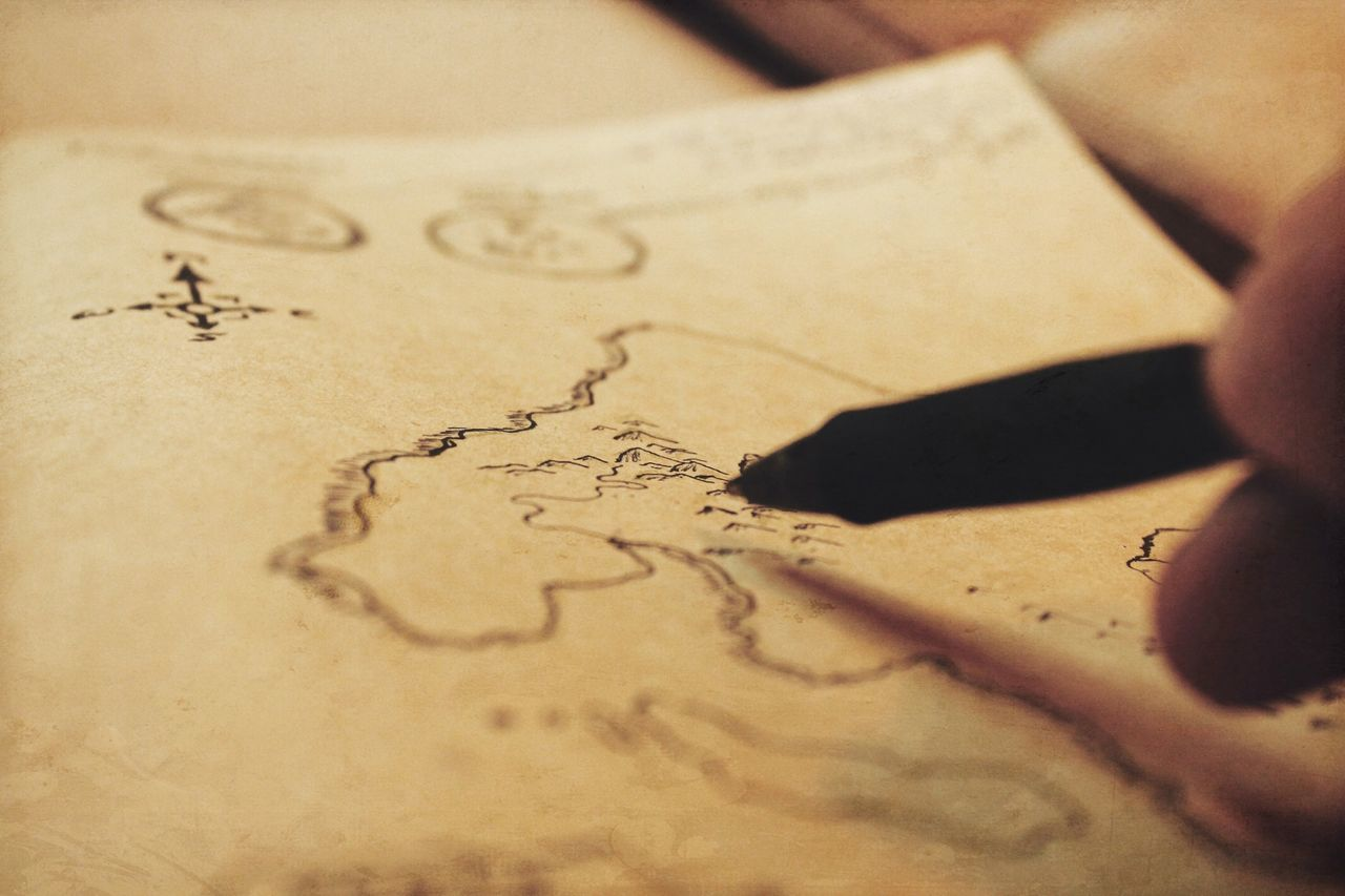 Map Drawing Cartography Storytelling