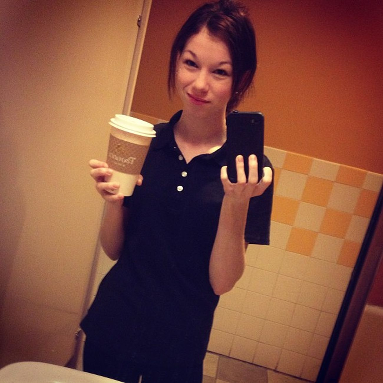 dear panera bread,thank you for hiring this lady! XD Panerabread Training Yay Freecoffee love happygirl getmoney