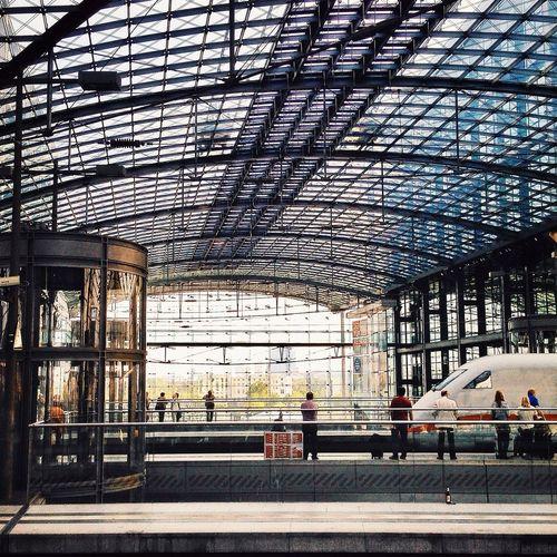 Architectue Railway Station Berlin Modern Architecture