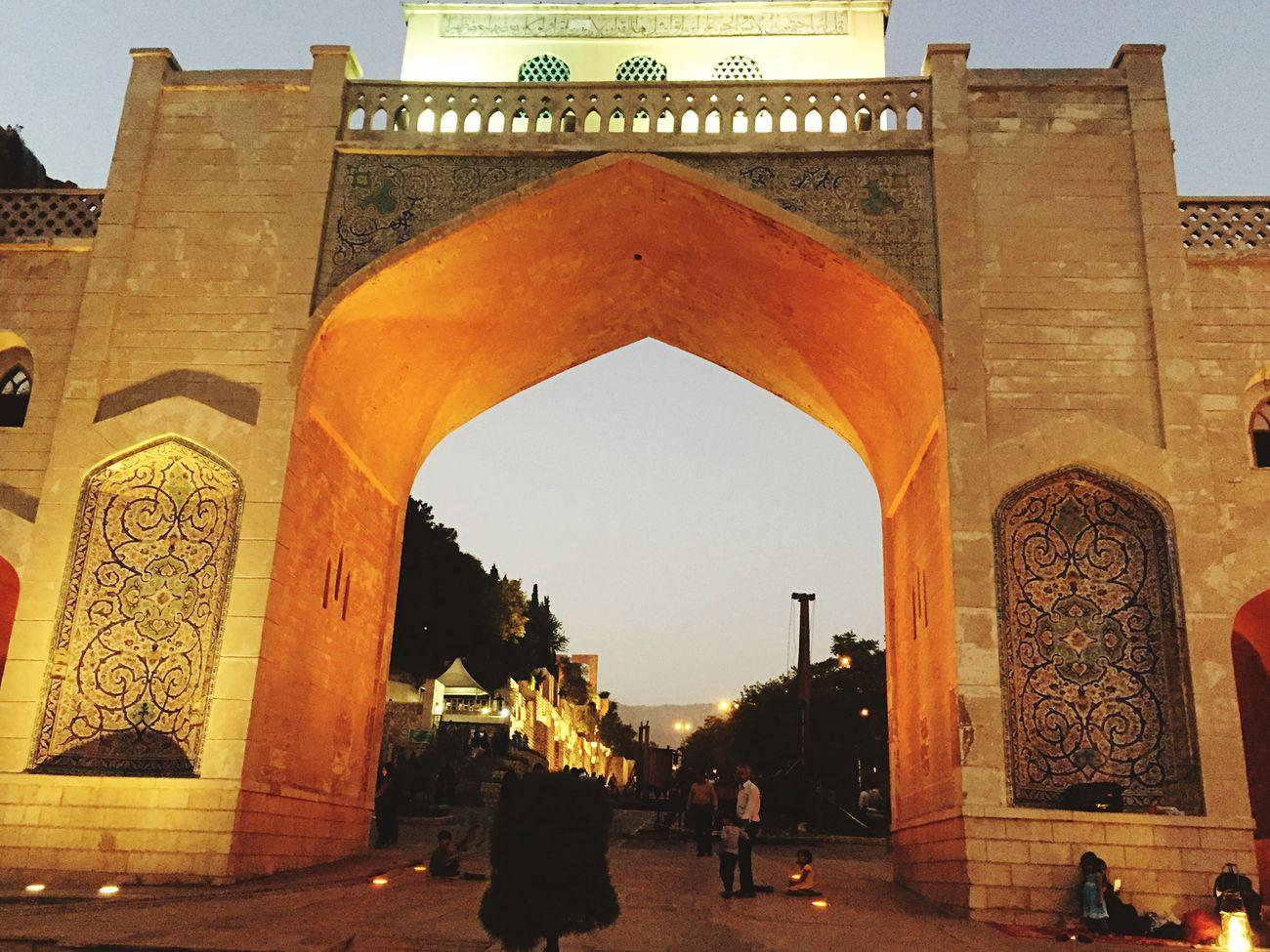 Quoran Gate Hot Summer Night Iran