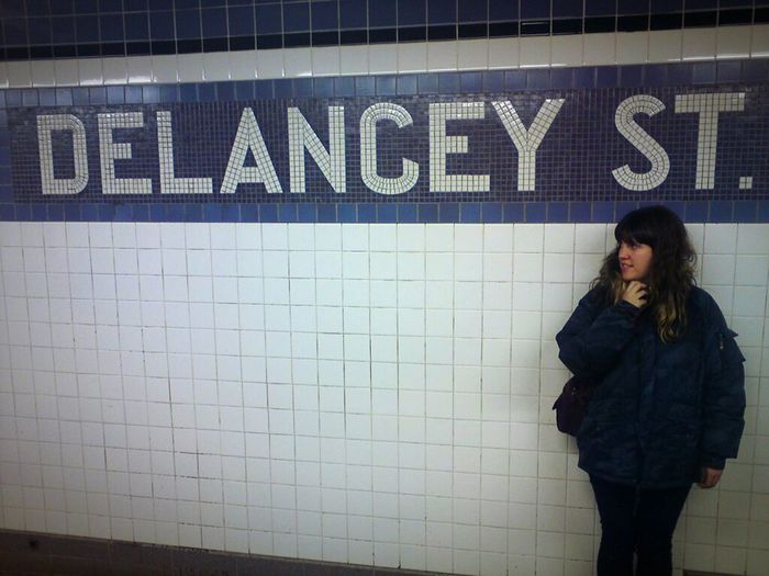 waiting for a train in New York Subway Station Lower East Side Manhattan Delancey Street Urbanphotography New York Metro Wintercoat Train Station Womanit looks posed but it wasn't