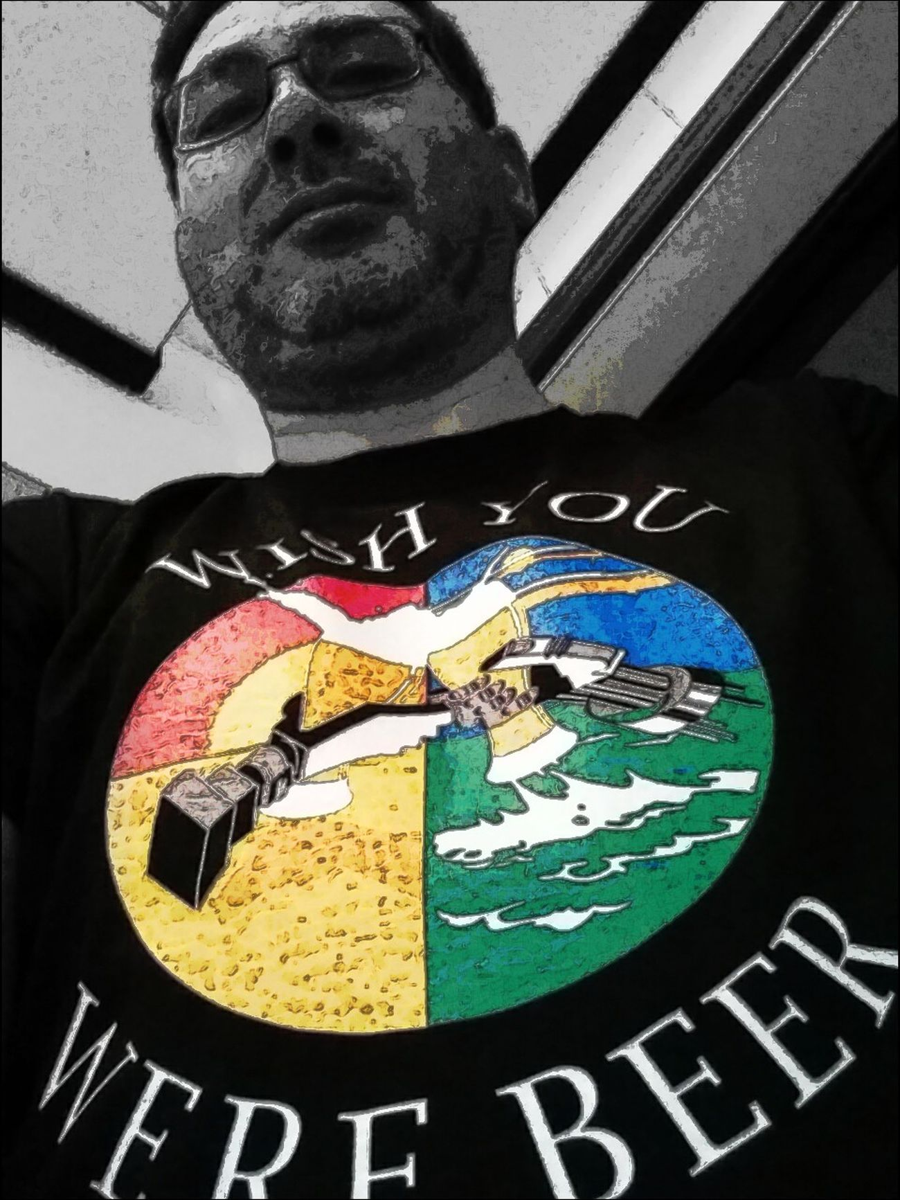 Tuesday_selfportrait_nonchallenge Colorsplash Wish You Were Beer