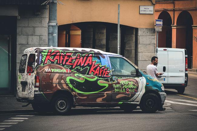 Street Art on Wheels. Bologna, Italy. Nikon D7100 | 70mm | 1/250 sec | f/4 | iso 100 Wanderlust, Streetart, Streetphotography, Urban Exploration, Art On Wheels.