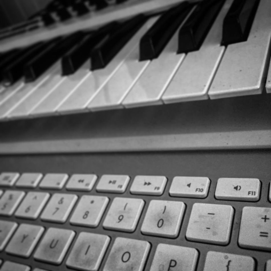 Tools of the trade. Keys to happiness. Most of the time. 🔹Photo by @thisisalef taken with iPhone 6 and edited with Enlight for iOS. #keyboards Keyboard Arturia #Arturia #musicproduction MusicProduction #studioporn Studioporn #texture #follow
