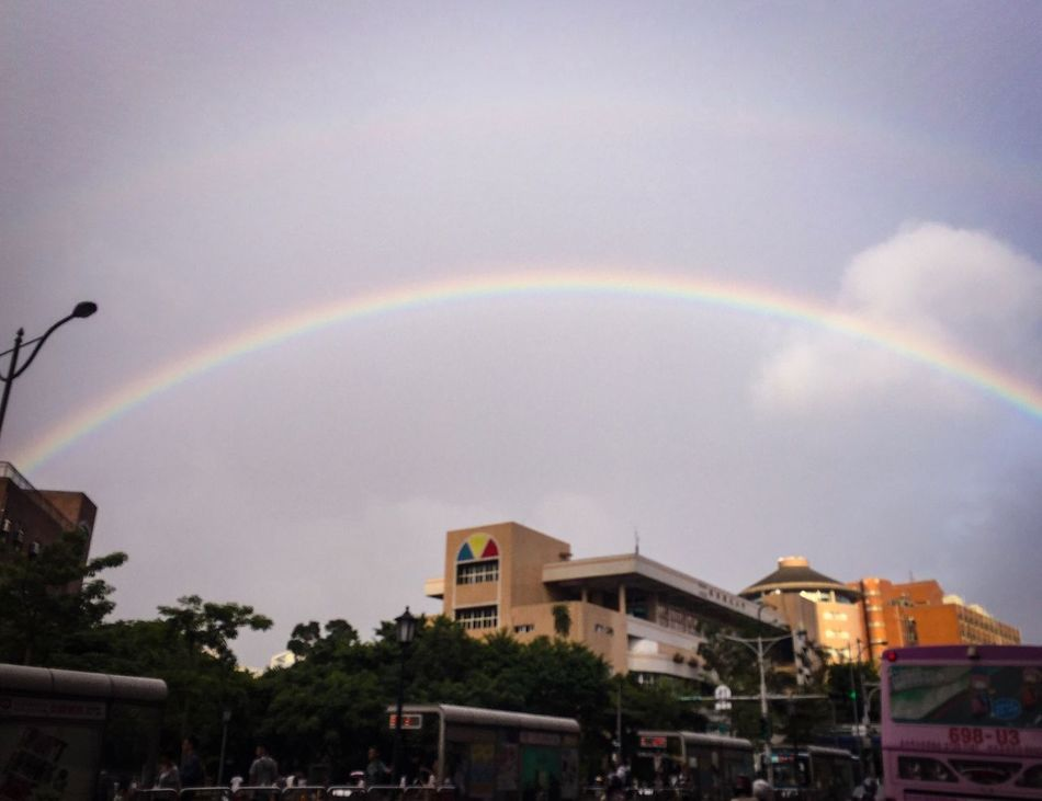 Before typhoon. Rainbow Sky Weather Outdoors Nature City OpenEdit IPhone Photos City Life 毎日仕事終わり前に EyeEm Best Shots Car