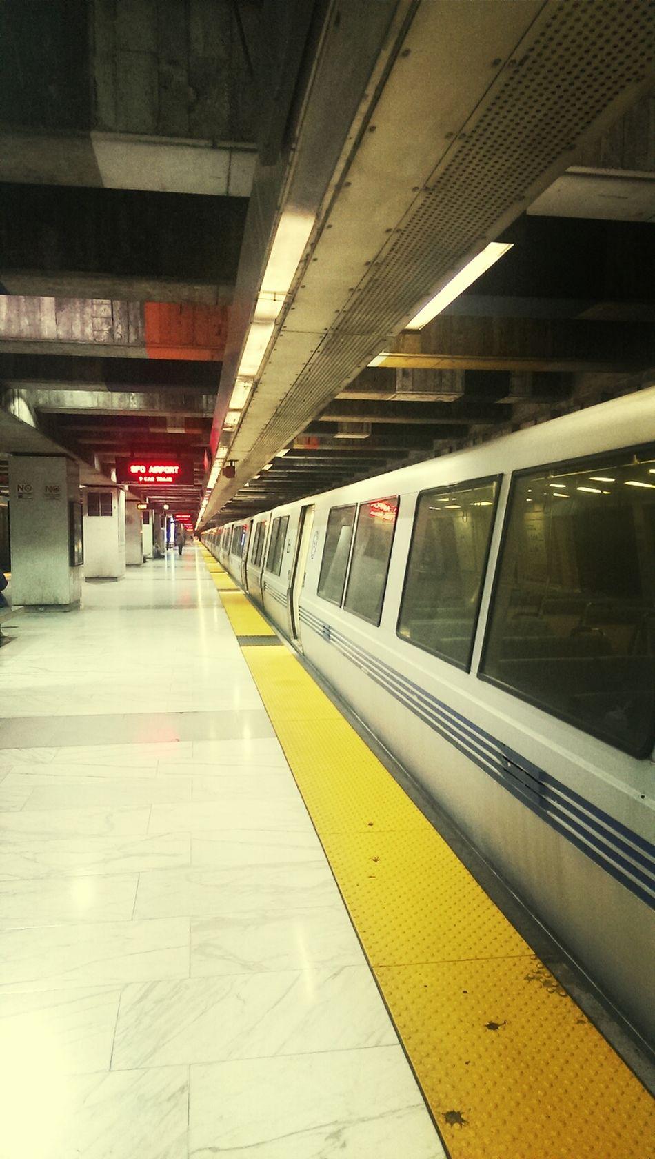 BART train San Francisco Subway Station Commute Glen Park