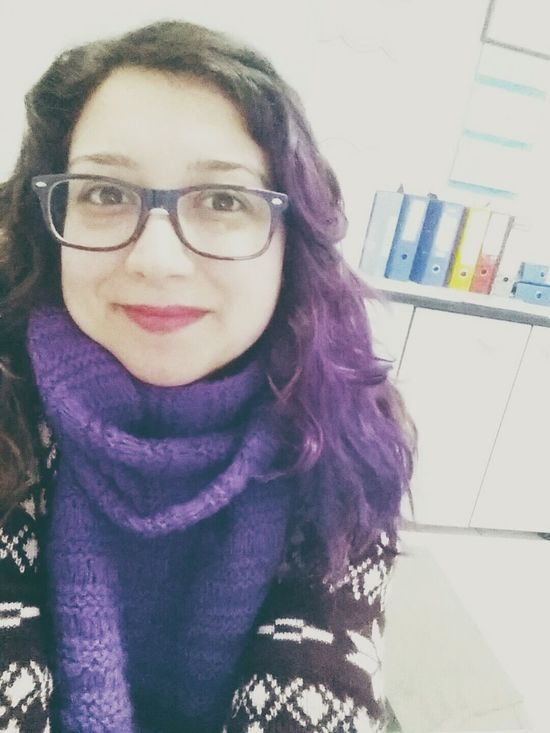 Hey.. it is just me ?? Me Purple Bigglasses Smile Work Hello