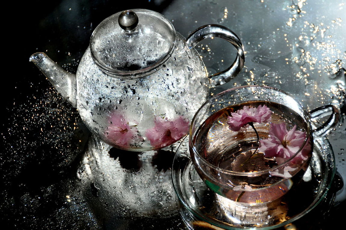Sakura tea #blossom #reflection #sakura #sakura_tea #tea Drink Drinking Glass No People Water