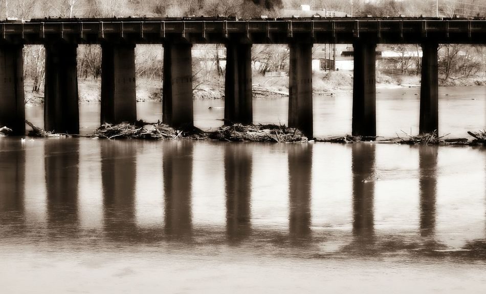 Concrete Bridge Reflections In The Water Dan River Bridge - Man Made Structure Architecture Reflection Built Structure Waterfront River Connection Underneath Make The World Smile Eyeem This Week The Smallest Little Things Happigramma Themes Patterns Creativity Multi Colored EyeEm Best Shots God's Country Godsmiles Godsartwork Spring 2017 Danville Virginia Beauty In Nature
