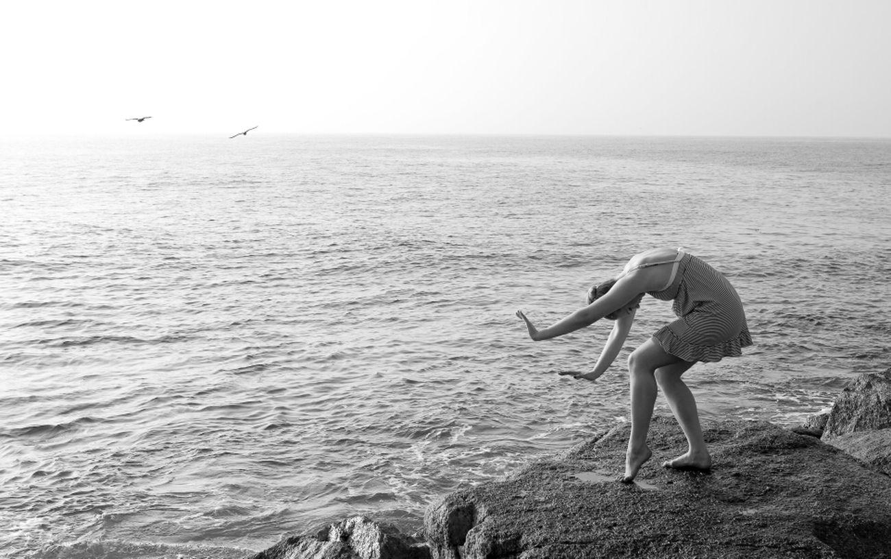 Mermaid Sea Rocks Ocean San Pedro California USA