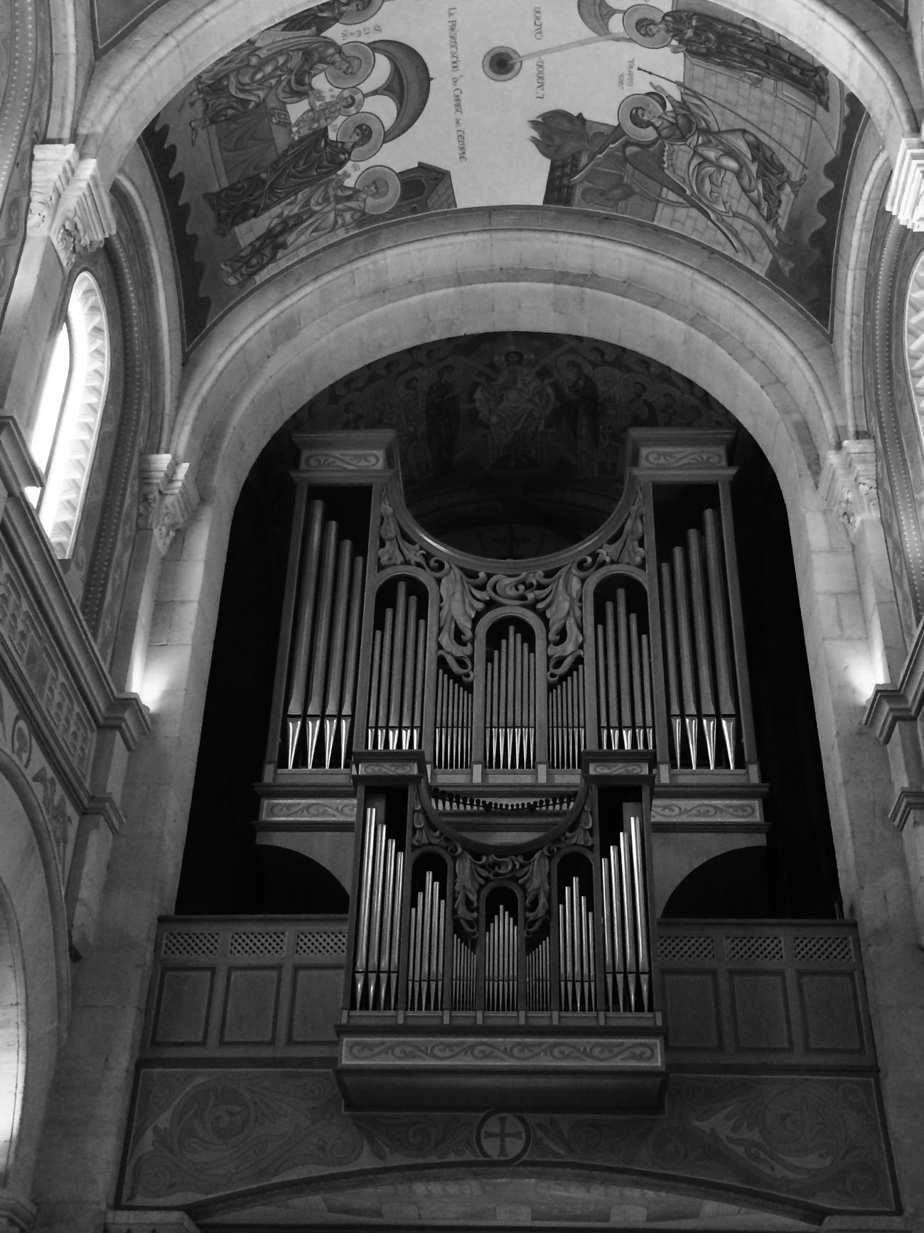 Black & White Lights Church Monochrome Organ Sanary Sur Mer View Picoftheday