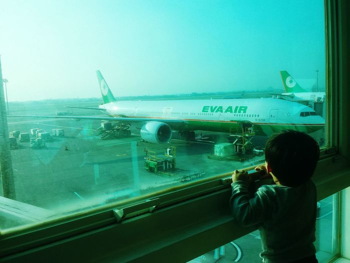 Someday When I Was Young When I Grow Up... Airport Airplane Child In Awe Youth Of Today