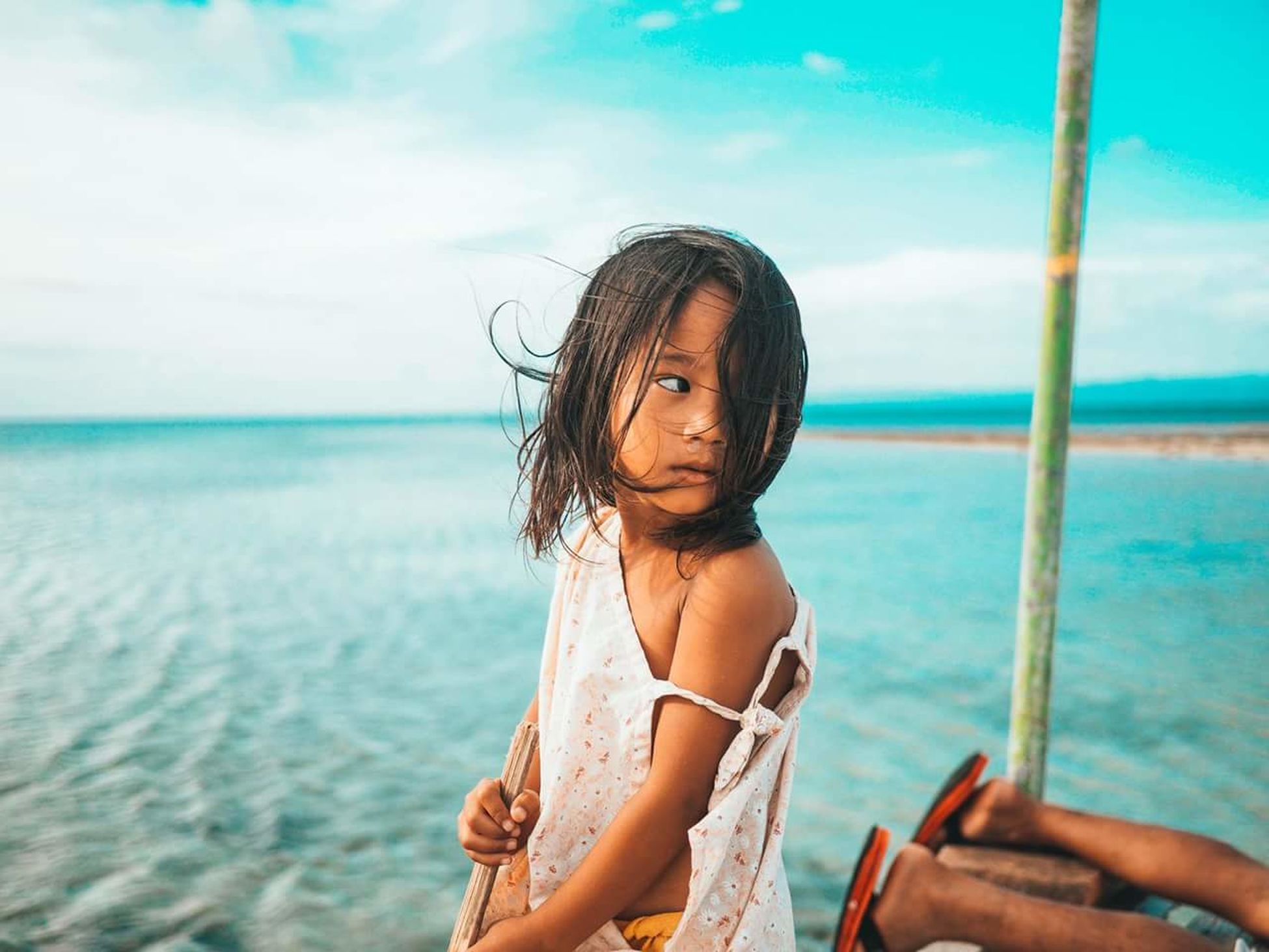 Sea Beach Water Summer Child Vacations Bikini Girls Children Only Cloud - Sky People One Person One Girl Only Outdoors Motion Nature Sky Day Beauty In Nature Portrait Justinvawtershot
