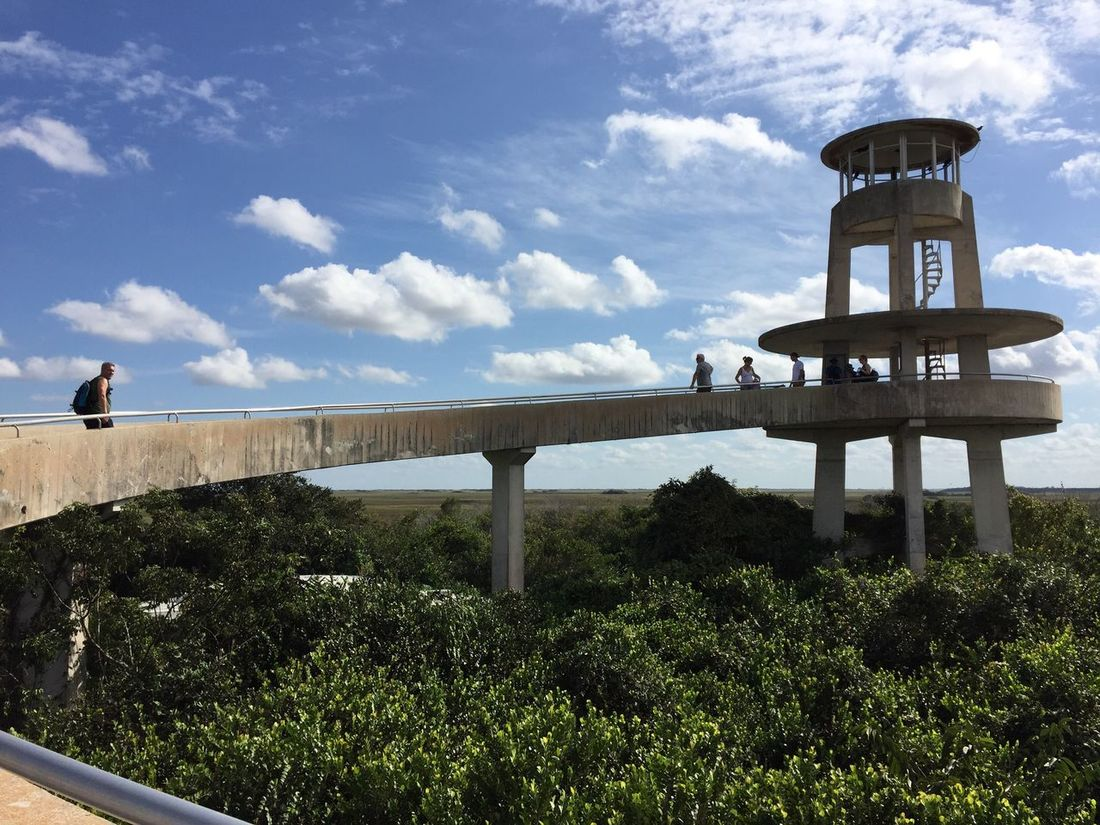Architecture Built Structure Sky Cloud - Sky Travel Destinations Building Exterior Day History Monument Outdoors Tree People Everglades  Sharkvalley Shark Valley Observation Tower