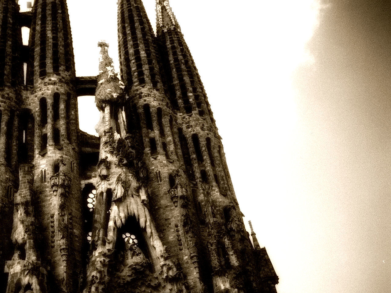 Architecture Barcelona Building Exterior Built Structure Gargoyle Gaudi Gaudi Barcelona Gaudì Architecture Work History Low Angle View Place Of Worship Religion Sagrada Familia Sagradafamilia Sagradafamiliabarcelona Sculpture Spirituality Temple Travel Destinations