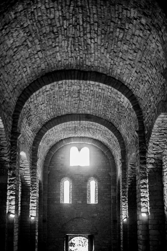 Romanesque Church Interior Blackandwhite Monochrome Monochrome_life Architecture Open Edit Textures And Surfaces Light And Shadow