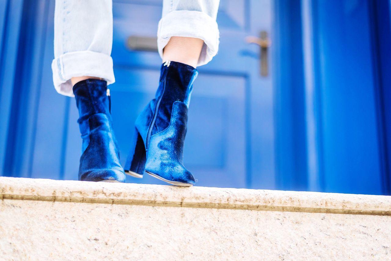 Beautiful stock photos of fashion, low section, human body part, human leg, blue