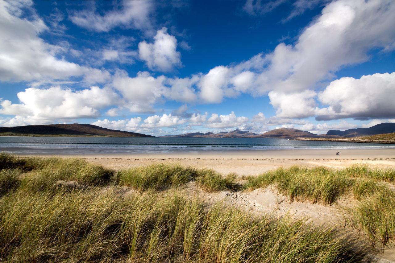 Beauty In Nature Cloud - Sky Isle Of Harris Landscape Luskentyre Beach Machair Grass Sand Sand Dune Sand Dunes Scenics Sea Sky EyeEmNewHere Beach Western Isles