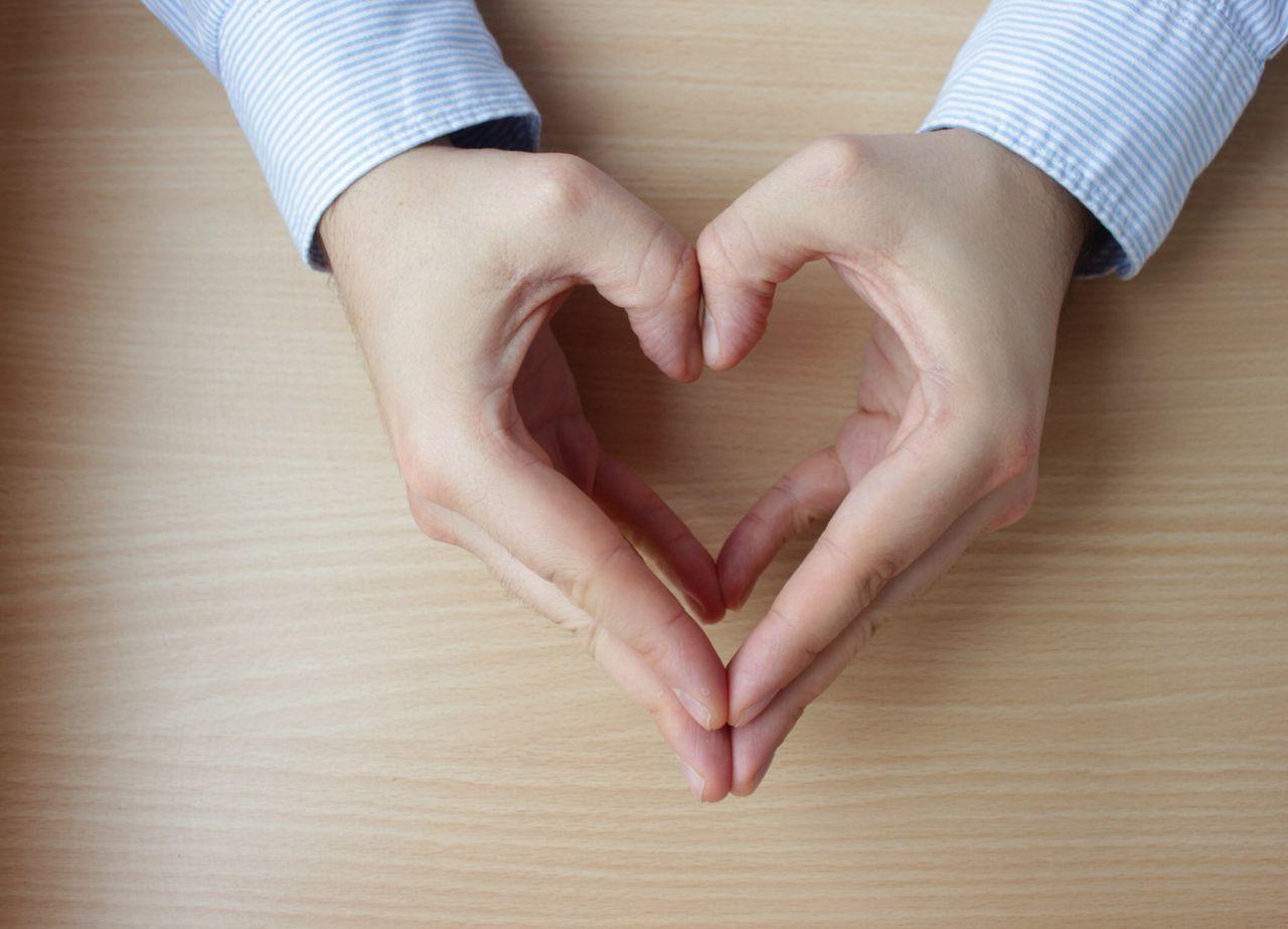 He hearts you Heart Shape Hands