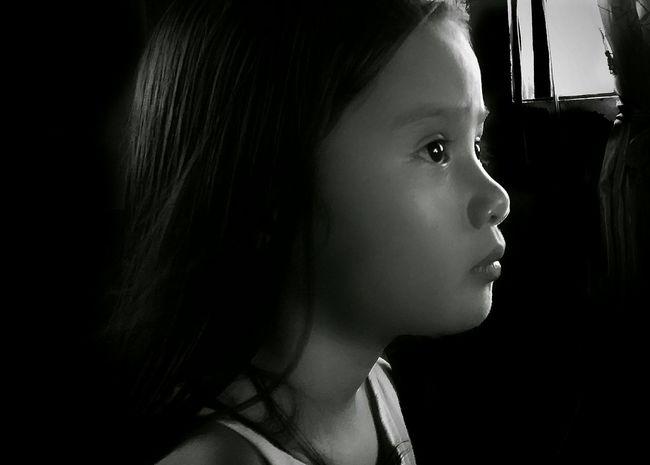 Bata (Child) Portrait Child Black And White Eyeem Philippines Xiaomi Redmi 3 Pro Monochrome