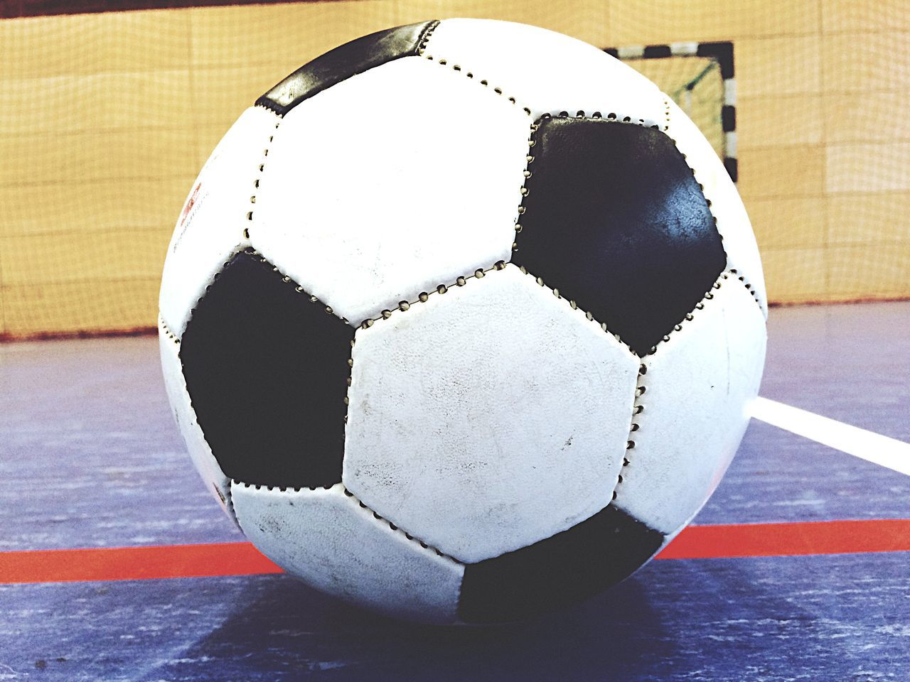 Beautiful stock photos of soccer balls, Black Color, Close-Up, Indoors, No People
