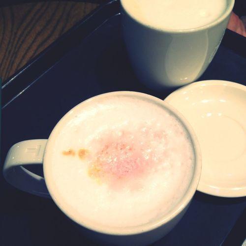 Cafe 체리블라썸 라떼(신메뉴 들장!!), 내 루이보스 티라떼
