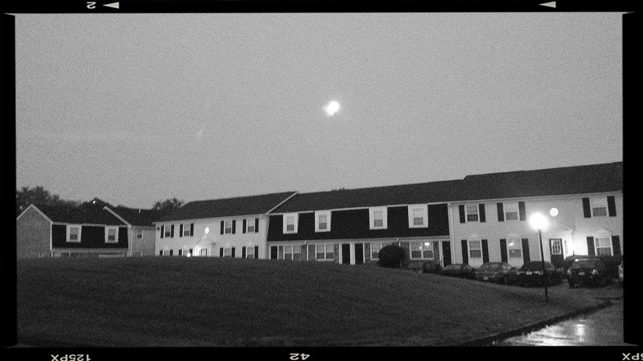 moon bouncing off roofs at 6:03 AM... EyeEm Best Shots Blackandwhite Eye4photography  Bw_collection
