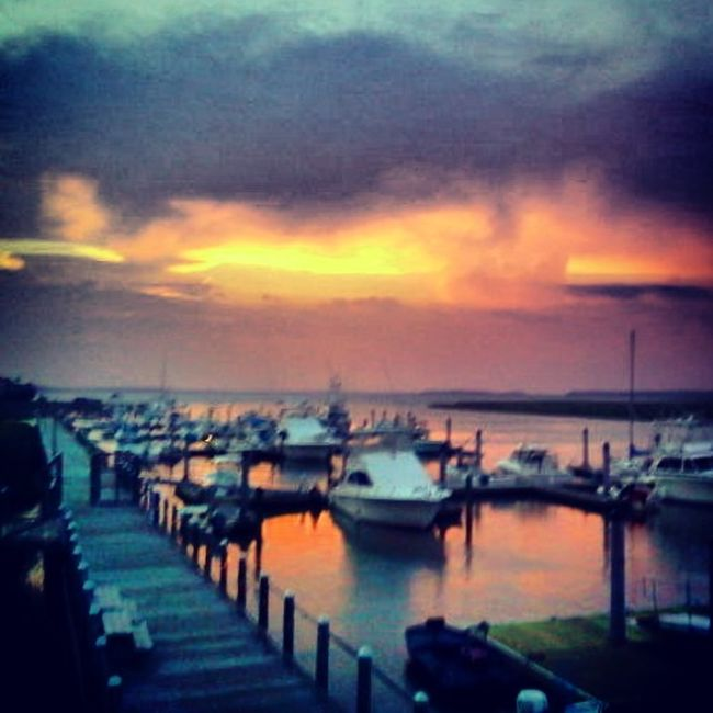 Sunset on the marina. Home Away From Home Enjoying Life Taking Photos