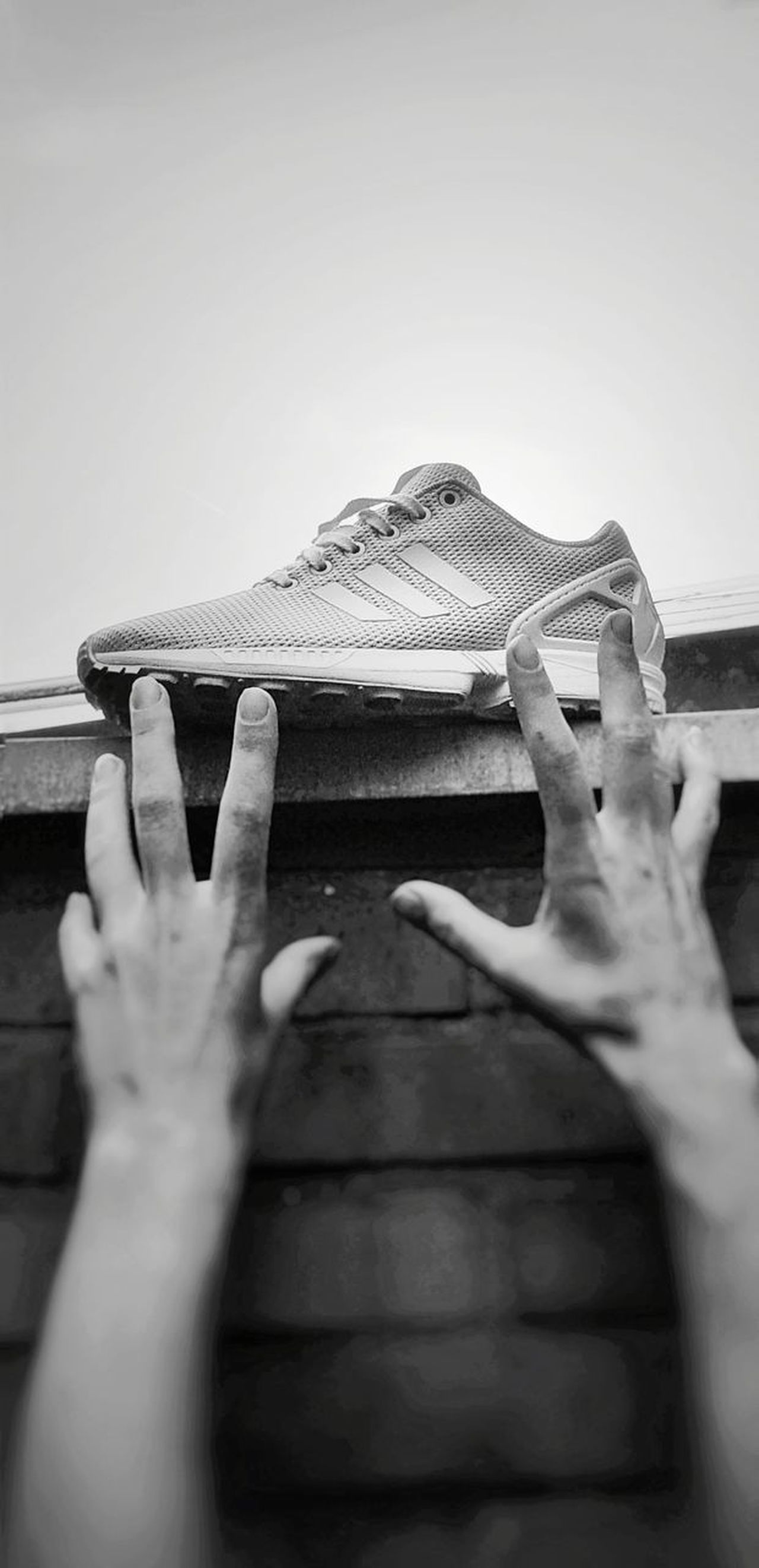 I want the sneaker !! 《 Out Of The Box One Woman I Want It♡ BW_photography B/W Photography Outdoor Photography 》