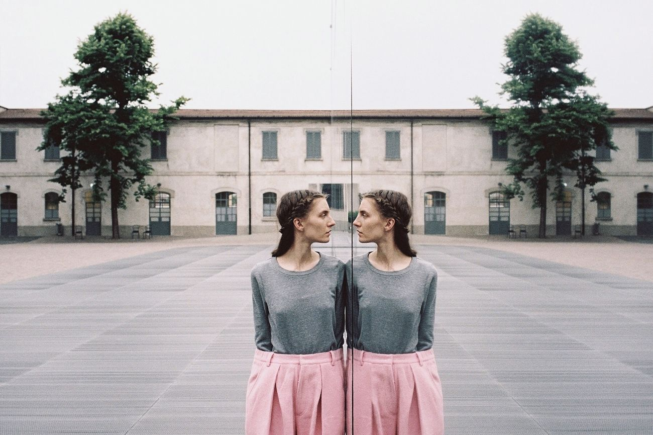 The Week On EyeEm The Portraitist - 2016 EyeEm Awards Color Colours Film Outdoors Filmisnotdead Tree Trunk 35mm Film 35mm Film Photography Tree Portrait Pink Reflection Mirror Showcase July Two Is Better Than One The Street Photographer - 2017 EyeEm Awards