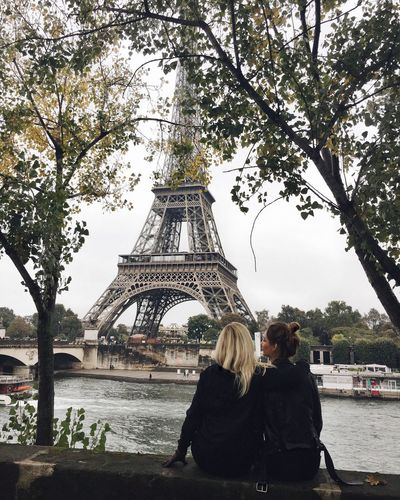 Travel Destinations City Architecture Tourism Tourist Travel Cultures Built Structure Building Exterior Women Two People Connection Vacations Outdoors Day People Eiffel Tower Paris Girls Sisters Friendship Friends Clear Sky City EyeEmNewHere